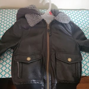 Toddler boys leather jacket 3t
